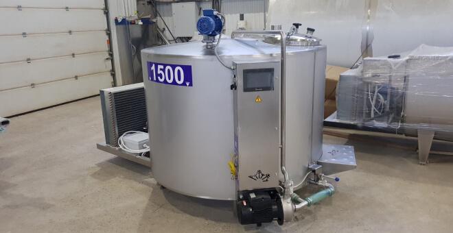 Охладитель молока открытого типа: вертикальный (шайба)